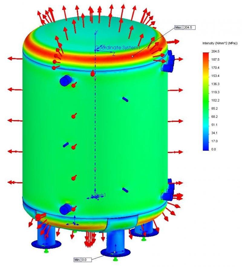 10,000 litre pressure vessel