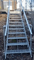 Railway embankment modular stair