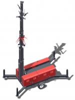 Rapid deployment CCTV tower system